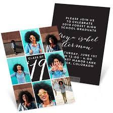 High School Graduation Announcement Photo Squares Mini Graduation Invitations