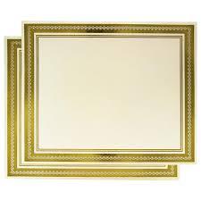 50 Award Certificates Gold Foil Border Certificate Paper For