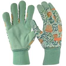 this review is from leather palm with knit wrist women s medium green glove