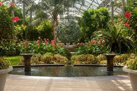 inside the conservatory at longwood gardens