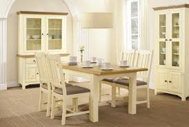 Cream And Wood Dining Table