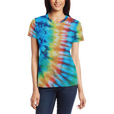 Light Colored Tie Dye Shirts Amazon Com Lefei Colorful Tie Dye Pattern Short Sleeve T