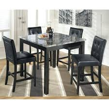 marble table set furniture 5 piece square counter in black dining scs