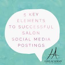 Successful Salon Social Media Postings Hays Academy Of