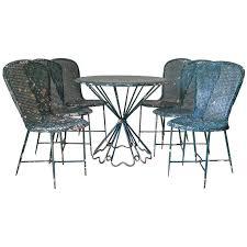 rare matégot palm beach table and chair set france
