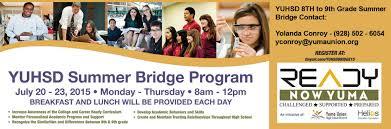 yuhsd 8th to 9th grade summer bridge program