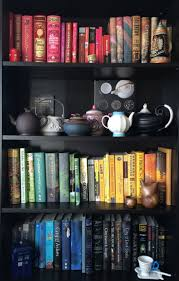 7 Ways To Organize Your Books (Other Than Alphabetically). Black BookshelfTardis  ...