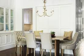 nailhead dining chairs dining room. Small Dining Room Wall To Live Edge Table With Beige Tufted Nailhead Chairs N