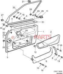 car door parts diagram 4818910 saab door panel genuine saab parts rh enginediagram net car door parts diagram with names car door lock parts diagram