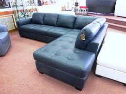 cool blue leather sectional sofa with chaise astounding navy blue leather