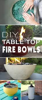 Contemporary Diy Patio Decorating Ideas Table Top Fire Bowls For