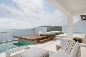 modern home architecture interior. Fine Interior Beautiful Terrace With Multiple Levels Above The Sea Inside Modern Home Architecture Interior A