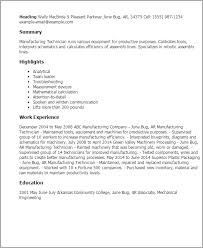 Manufacturing Resume Template. top ...