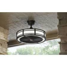 Ceiling Light With Hidden Fan Ceiling Fan With Hidden Blades At Home Depot Bronze