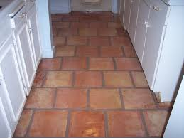 red mexican saltillo tile kitchen floor in scottsdale arizona home