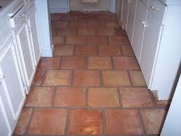 red mexican saltillo tile kitchen floor in scottsdale arizona home
