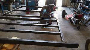 cer trailer build 1 welding the frame