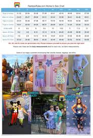 Mens Rainbows Size Chart Size Charts
