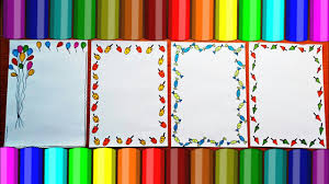 Chart Paper Border Decoration Ideas For School