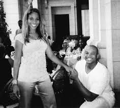 """The"""" Wes, proposing to his wife, Dawn. 