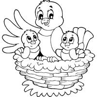 Small Picture Top 90 Nest Coloring Pages Tiny Coloring Page