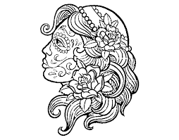 Disegno Di Tatuaggio Di Catrina Da Colorare Acolorecom