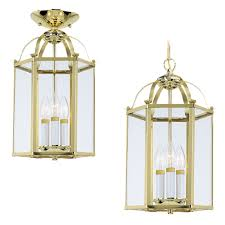 sea gull lighting 5231 962 brushed nickel bretton 3 light lantern pendant lightingdirect com