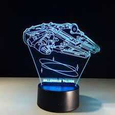 Millennium Falcon Star Wars Lighting Gadget Lamp Decor Awesome Gift Star Wars Millennium Falcon Led Night Light Colorful 3d