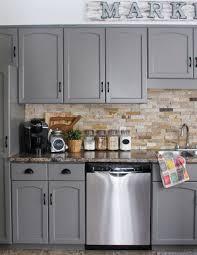 After: Modern Farmhouse Kitchen Cabinet Update
