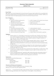 Claims Adjuster Resume Samples Insurance Resume Samples Resume Samples