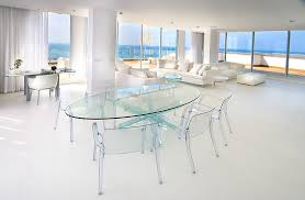 lucite dining table dining room contemporary with clear chairs clear dining image by elad gonen