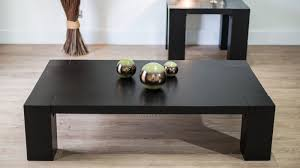 large black wooden coffee table