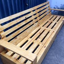 wooden pallet furniture. Rustic No-cost Beefy Wooden Pallet Outdoor Bench Furniture