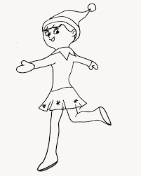 Girl Elf On The Shelf Coloring Pages Elf On The Shelf Coloring