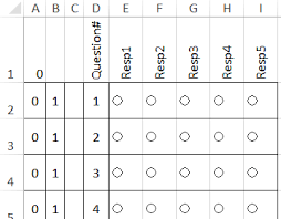 Forms Templates Excel Excel Survey Template With Option Buttons