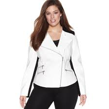 leather jackets plus size lyst inc international concepts plus size faux leather colorblock