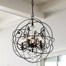 crystal orb chandelier ballard designs intended for with crystals idea 11