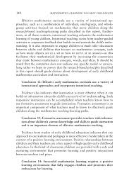 conclusions and recommendations mathematics learning in early  page 340