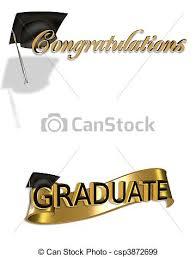 congratulations to graduate graduation congratulations clip art gold and black digital stock