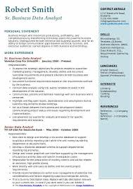 Skill Set Resume Template Gorgeous Business Data Analyst Resume Samples QwikResume
