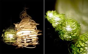 fun funky lighting. These Are Actually Lamp Shades That Have A Very Natural Feel To Them. Gorgeous Would Be Great In An Outdoor Area, As They Provide Comfortable Fun Funky Lighting G