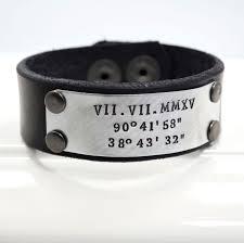 mens engraved bracelets hand made leather cuff bracelet for men