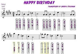 Happy Birthday Trumpet Finger Chart Bedowntowndaytona Com