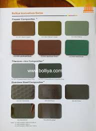 Patina Color Chart Color Chart Special Metal Composite Guangdong Bolliya