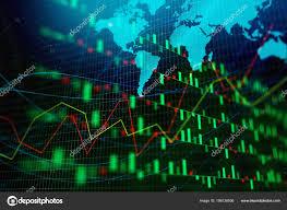 Creative Glowing Forex Chart Wallpaper Map Global Business