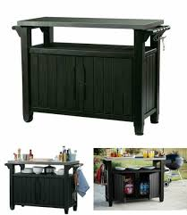 rolling storage cart indoor outdoor patio storage grill cooking prep station bbq for