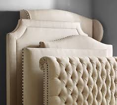Unique Bed With Quilted Headboard Chesterfield Upholstered Bed ... & Unique Bed With Quilted Headboard Chesterfield Upholstered Bed Headboard  Pottery Barn Adamdwight.com