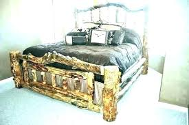 queen size log bed frame – satnettv.co