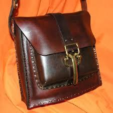 custom made hip rider hand nailed leather handbag model nb006