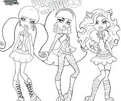 monster high babies coloring pages printable free colouring